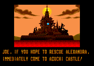 Mystic Defender Genesis Get to the castle to rescue Alexandra.