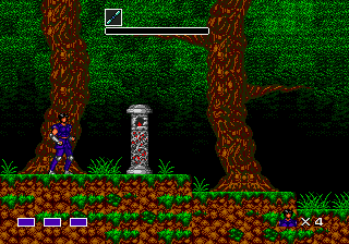 Mystic Defender Genesis The first level is set in the woods.