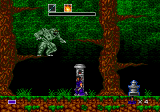 Mystic Defender Genesis You need to take the fight into the trees with this boss.