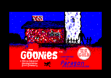 The Goonies Amstrad CPC Title screen