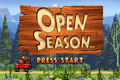 Open Season Game Boy Advance Title screen.