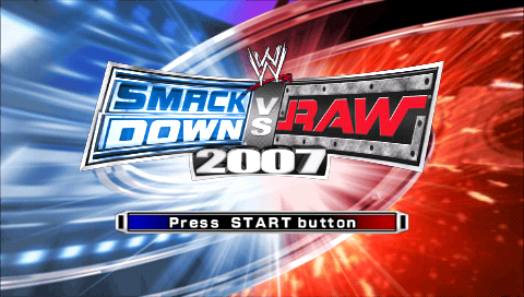WWE SmackDown vs. Raw 2007 PSP Title screen