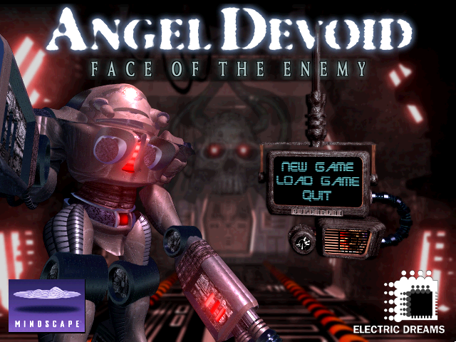 Angel Devoid: Face of the Enemy DOS Title screen