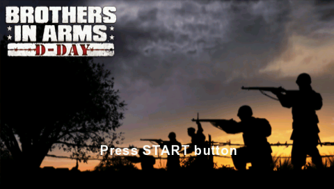 Brothers in Arms: D-Day PSP Title screen