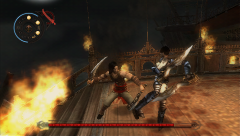 Prince of Persia: Revelations PSP First boss fight