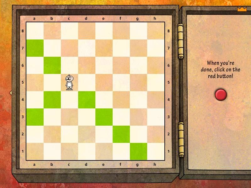 Learn to Play Chess with Fritz & Chesster 2: Chess in the Black Castle Windows How does the bishop move, again?