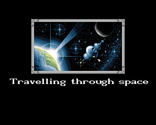 Jet Set Willy II: The Final Frontier Amiga Space loading screen