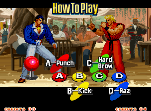 Art of Fighting 3: The Path of The Warrior Neo Geo A quick intro to the game's controls. A Hard Brow indeed.