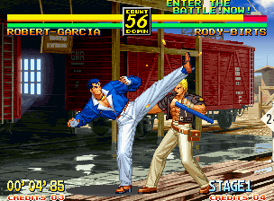 Art of Fighting 3: The Path of The Warrior Neo Geo All characters have regular attacks that are activated by pressing a direction and a button at the same time.