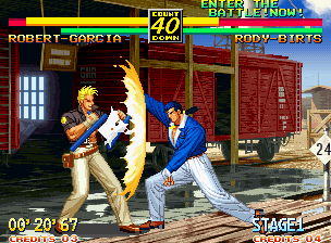 Art of Fighting 3: The Path of The Warrior Neo Geo There are, of course, special moves that use your spirit bar.