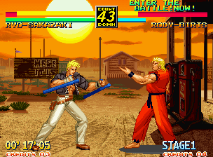 Art of Fighting 3: The Path of The Warrior Neo Geo Taunting the enemy will lower their Spirit bar a bit.