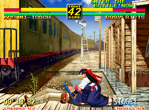 Art of Fighting 3: The Path of The Warrior Neo Geo You can also hit enemies while they're on the ground.