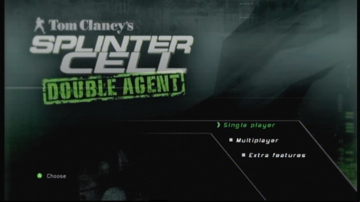 Tom Clancy's Splinter Cell: Double Agent Xbox 360 Main menu