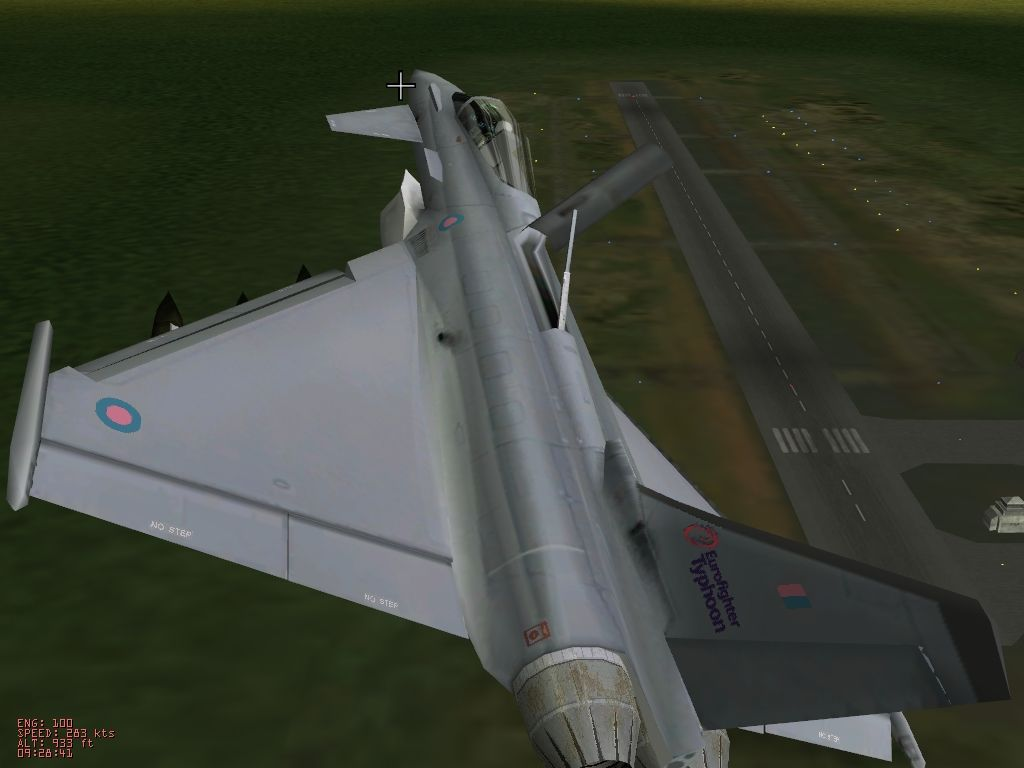 """Eurofighter Typhoon Windows View from the """"flyby"""" camera"""