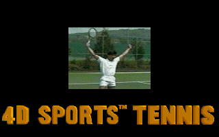 4D Sports Tennis DOS Title screen with video (VGA)