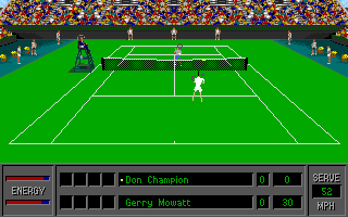 4D Sports Tennis DOS Maximum graphic detail and 3rd-person perspective (VGA)
