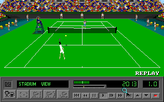 4D Sports Tennis DOS Advanced replay mode (VGA)