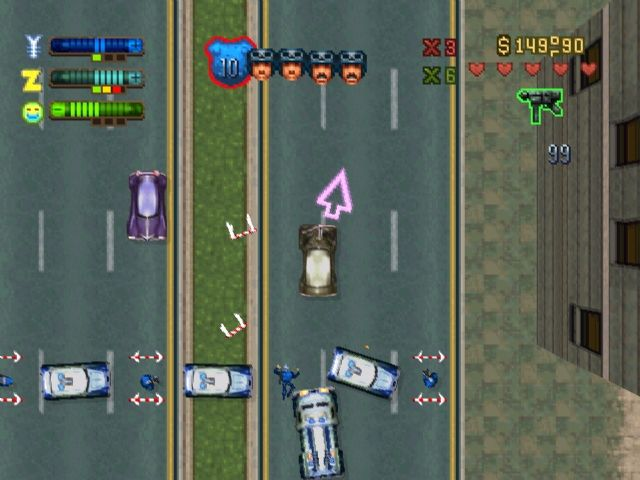 Grand Theft Auto 2 PlayStation Trying to escape the SWAT team.