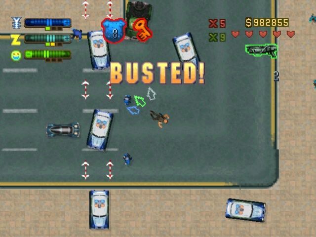 "Grand Theft Auto 2 PlayStation Busted! No problem if you got a ""get outta jail free-card""."