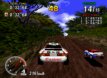 SEGA Rally in game graphics