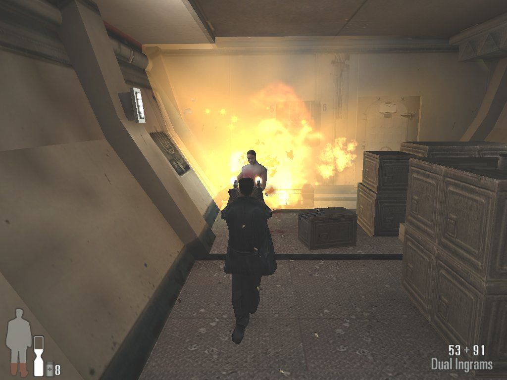 Max Payne Windows Explosive showdown with Boris Dime