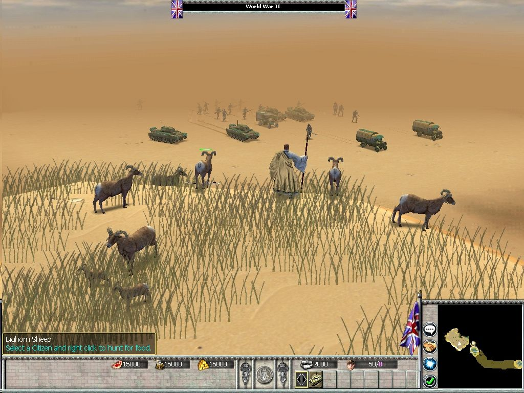 Empires: Dawn of the Modern World Windows British Forces cross the desert.