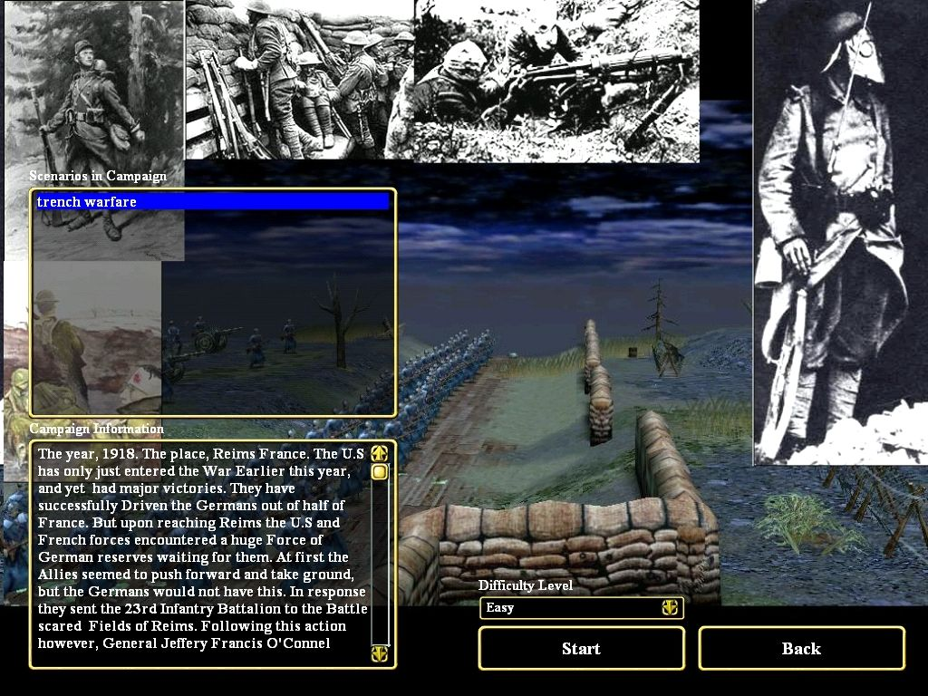Empires: Dawn of the Modern World Windows This is an example of a user-made custom campaign screen.