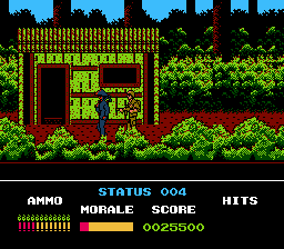 Platoon NES At the FNL village, you must avoid harming the villagers.