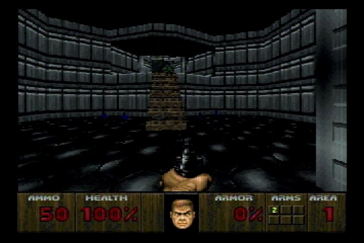 DOOM Jaguar Most levels have been redesigned with less detail.