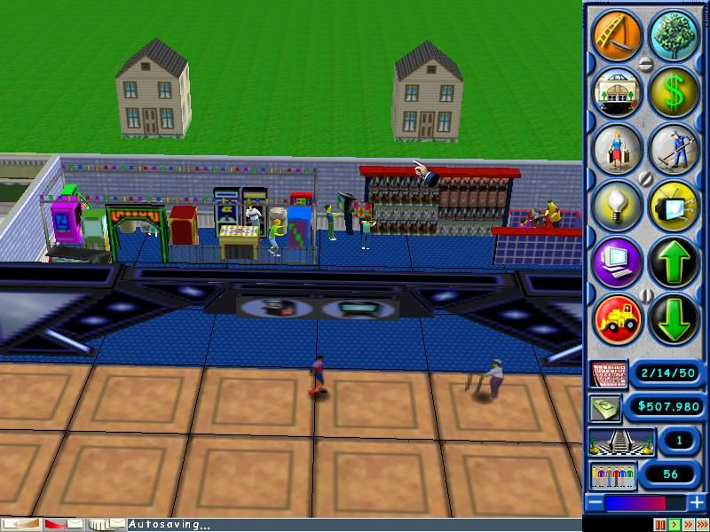 Mall Tycoon Windows Every gamer's dream; a combination arcade with a computer game store.