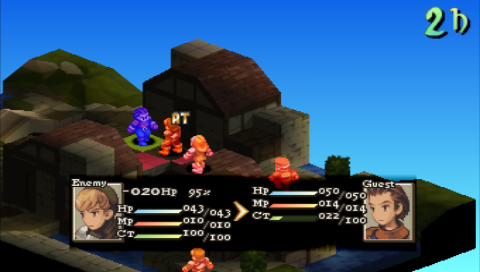 Final Fantasy Tactics PSP Attack results assumption