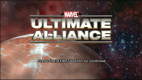 Marvel Ultimate Alliance PSP Title screen