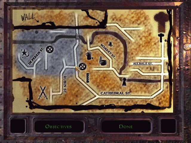Thief: The Dark Project Windows The maps are unprecise, but indispensible.