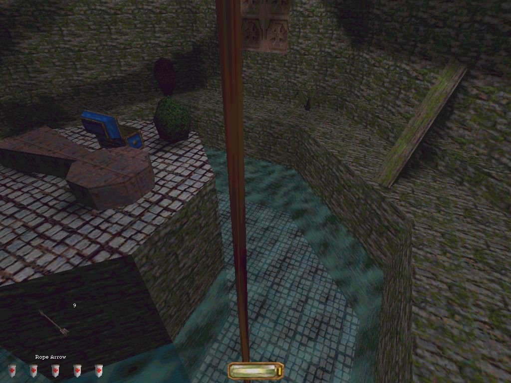 Thief: The Dark Project Windows Tactical use of arrows: Crossing a canal with a rope arrow.