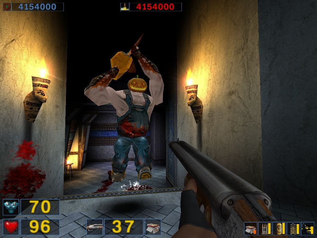Serious Sam: The Second Encounter Windows Cucurbito, the chainsaw wielding pumpkin (and your new playmate).
