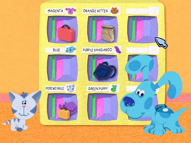 Blue's Clues: Blue Takes You to School Windows Intro - Blue and Periwinkle put their lunches in their cubbies