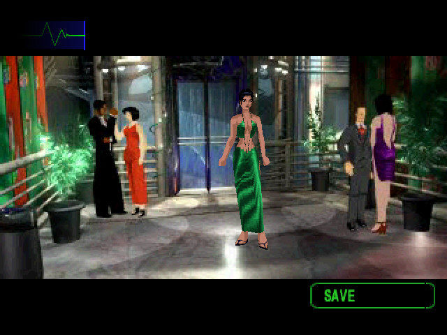 Fear Effect 2: Retro Helix PlayStation Infiltrating a party bond-style.
