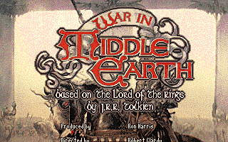 J.R.R. Tolkien's War in Middle Earth Amiga Title screen