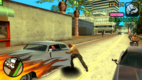 Grand Theft Auto: Vice City Stories PSP A sweet low rider. Gotta have that one..