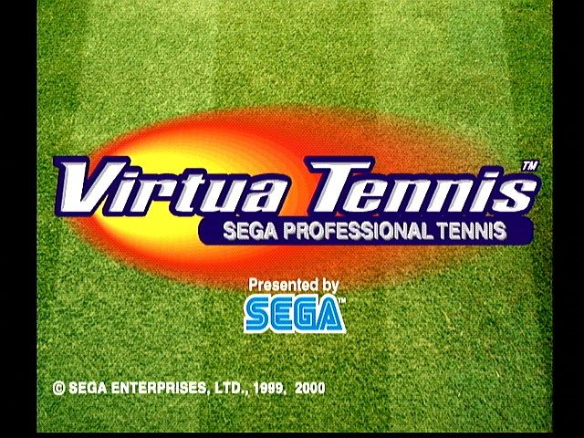 Virtua Tennis Dreamcast Title Screen