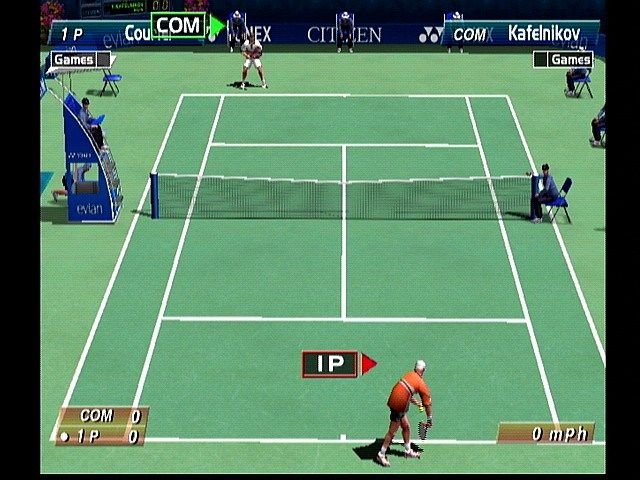 Virtua Tennis Dreamcast Serving