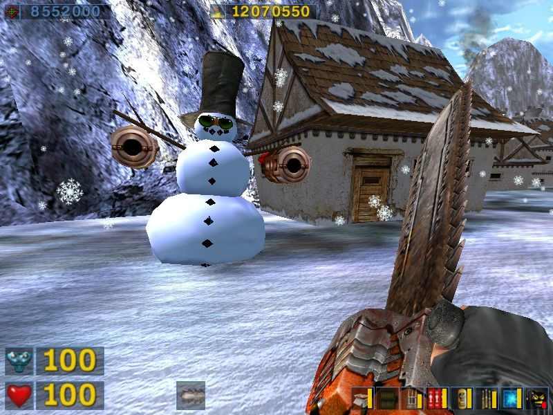 Serious Sam: The Second Encounter Windows Serious name, serious action, not so serious snowmen.