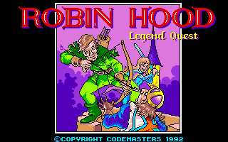 Robin Hood: Legend Quest Amiga Title screen