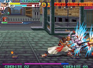 Sengoku 3 Neo Geo Kongoh is slow, but has powerful punches and a wide