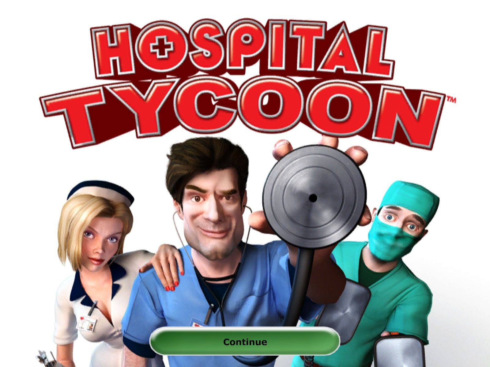 Hospital Tycoon Windows Title screen