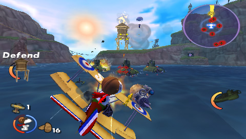 Snoopy vs. the Red Baron PSP Island combat