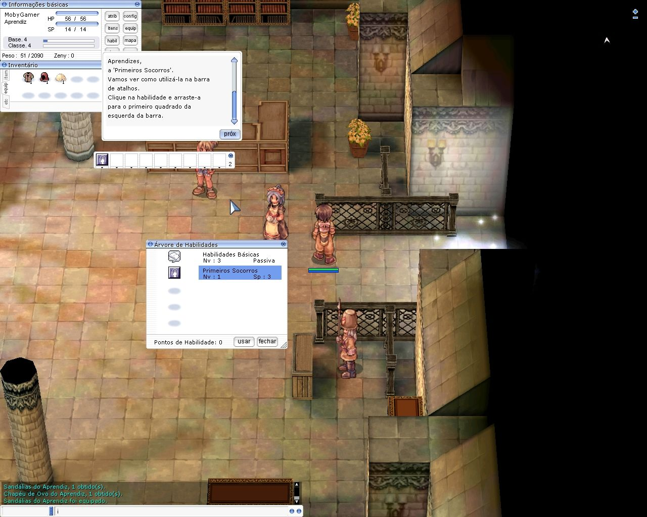 Ragnarök Online Windows You can drag and drop skills to a fast-cast bar.