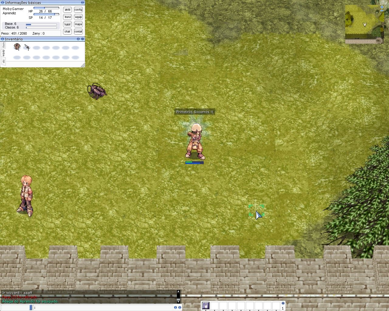 Ragnarök Online Windows Using the first-aid skill.