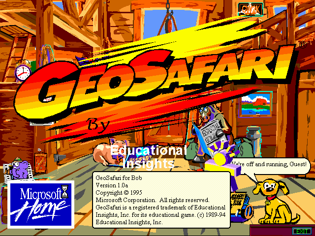 Microsoft Bob (game included) Windows 3.x Splash screen