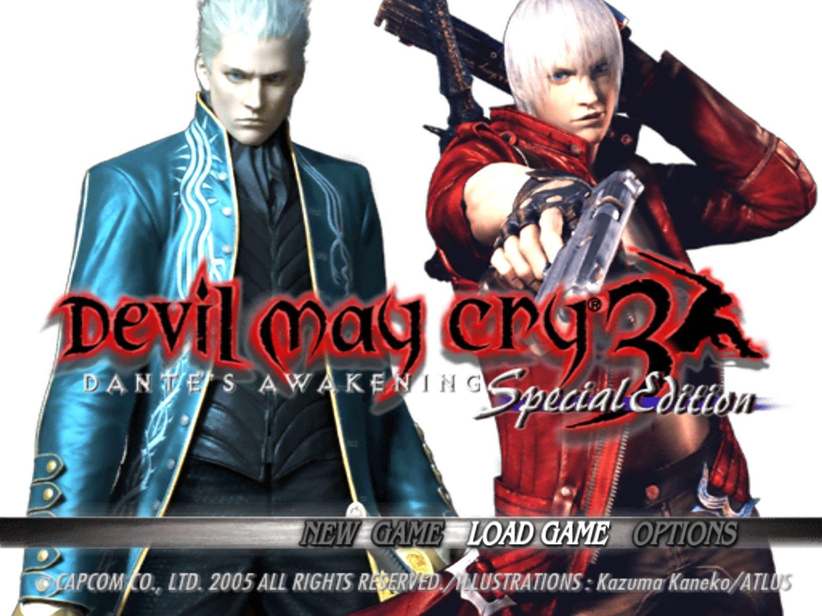 Devil May Cry 3: Dante's Awakening (Special Edition) Windows Main menu